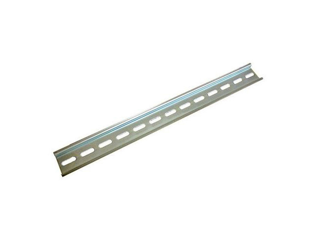 tycon systems 5600033 - din rail 12 75 u0026quot   plated steel  35mm x 7 5mm x 325mm long