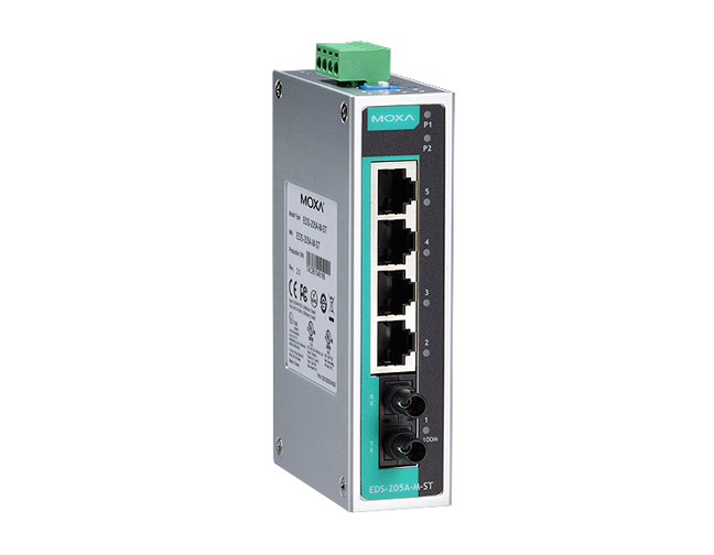 Moxa Eds 205a M St Unmanaged Switch With 4 10 100base T