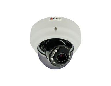 B67 - 3MP Indoor Zoom Dome Camera with Day/Night, Adaptive IR, Superior WDR, 3x Zoom Lens, High Resolution Video Recording by ACTi