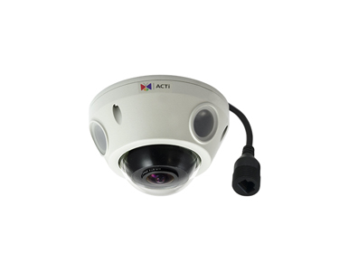 E925 - 5MP ACTi Outdoor Compact Fisheye Mini-Dome IP Camera