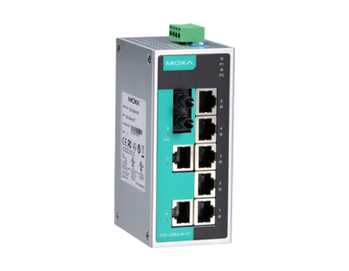Moxa Eds 208a M St T Unmanaged Ethernet Switch With 7 10