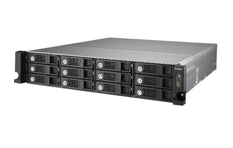QNAP TS-1253U-RP-US - 12-bay 2U iSCSI NAS, Intel 2 0GHz Quad