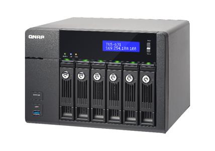 QNAP TVS-671-i5-8G-US - 6-Bay Intel Core i5 3 0GHz Quad Core